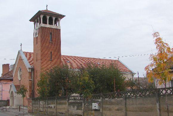 A marosvásárhelyi volt ferences templom - Sebestyén Péter atya szolgálati helye.