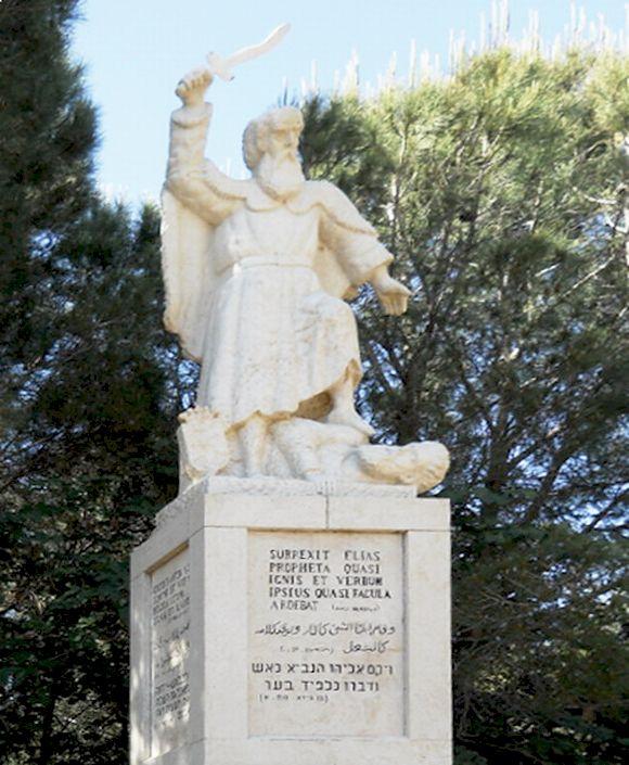Illes-profeta-szobra-a Karmelen
