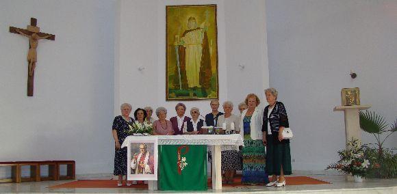 Márton Áron imaalkalom a kolozsvári Szent István templomban.