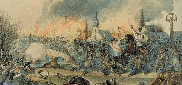 Mednyánszky Cézár a kápolnai csatában - Than Mór festménye