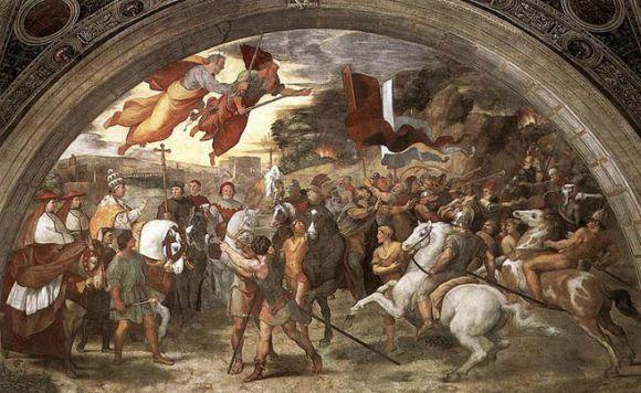 Raffaello- Leo-papa-Attila-es-ahunok