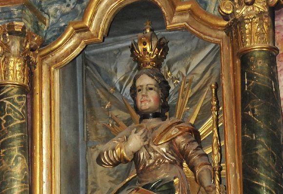 Szent Imre herceg a gelencei római-katolikus műemléktemplom főoltárán.