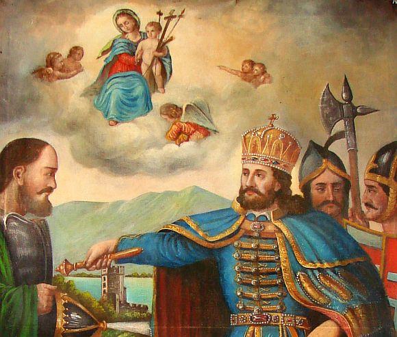 Szent-Laszlo--megkereszteli-a-kun-vitezt-fooltar-a-nyujtodi-romai-katolikus-templomban-2
