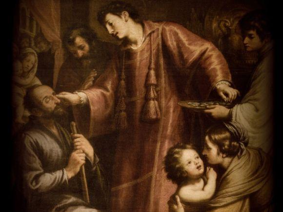 Szent-Lorinc-gondozza-a-betegeket