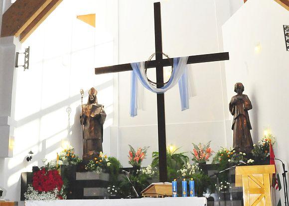 Szent Mónika és Szent Ágoston - A csíkszeredai Szent Ágoston templomban.