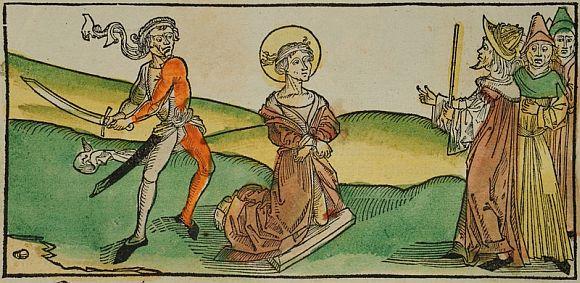 Szent Pongrác középkori ábrázolása.